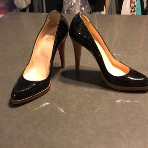 Authentic Christian Louboutin Black Leather Heels
